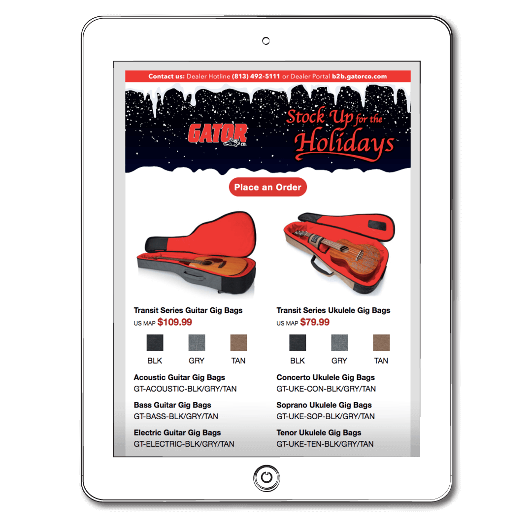 Email – Gator Holiday Stock-up